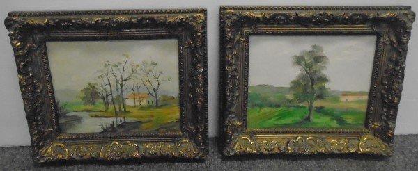 2 Contemporary Framed Oils on Canvas