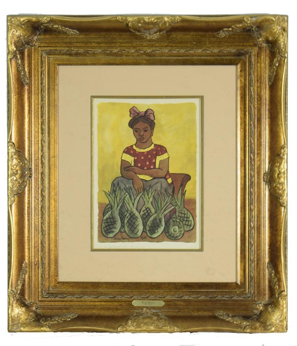 """Diego Rivera """"Good Harvest"""" Original Offset Lithograph"""