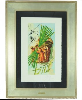 "S. Dali ""10 of Staves"" Original Lithograph"
