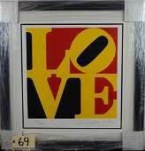 - Robert Indiana . Book of Love (Black Yellow Red)