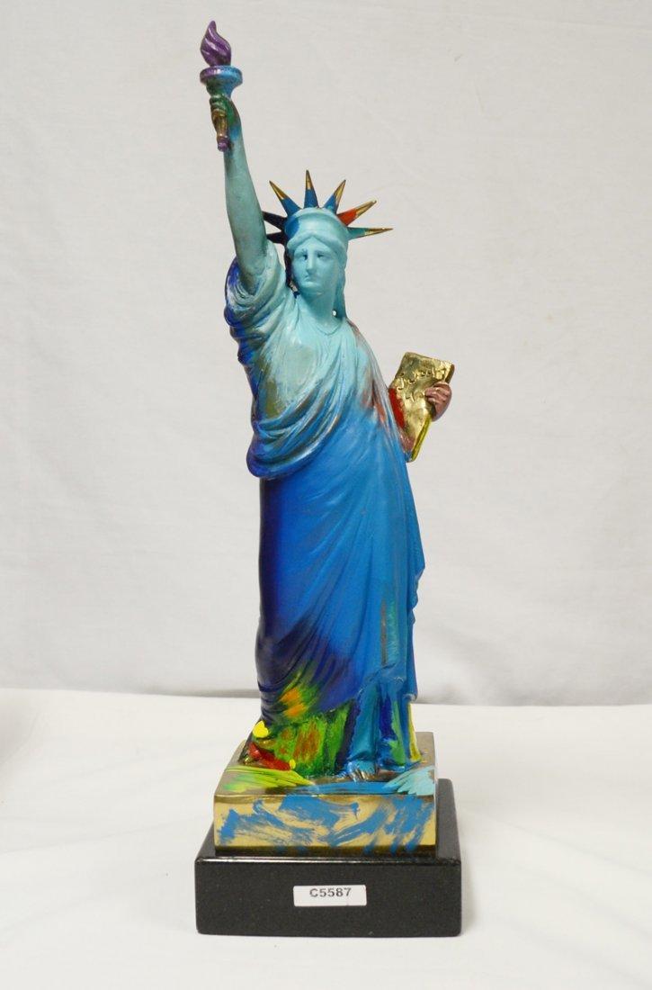 Peter Max Original -  Bronze Statue of Liberty. Edition
