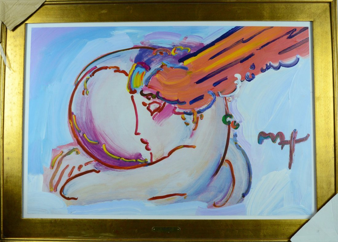"Peter Max Original Mixed Media Over Paint ""I Love the"