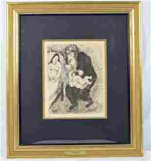 """Marc Chagall """"The Circumcision"""" Etchings for the Bible."""