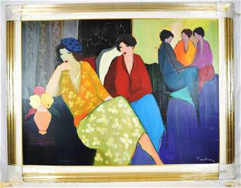 "Itzchak Tarkay ""Apart from the Crowd"" Original Oil on"
