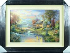 "Thomas Kinkade ""Mountain Retreat III"" Limited Edition"