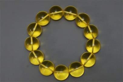 Blue Amber Bracelet