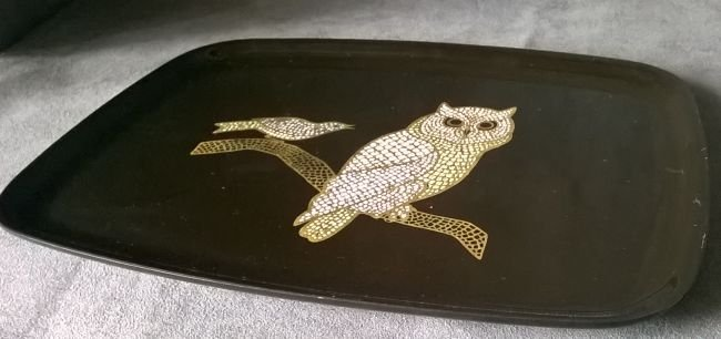 Couroc Tray With Owl - 3