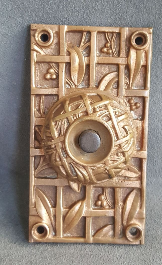Rare Holly Pattern Doorbell Plate