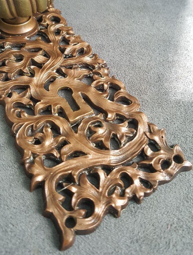 Kelp Pattern Passage Knob And Plate - 2