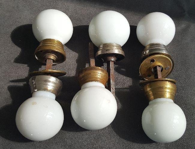 Milk Glass Doorknobs