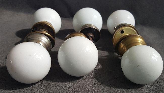 Milk Glass Doorknobs - 4