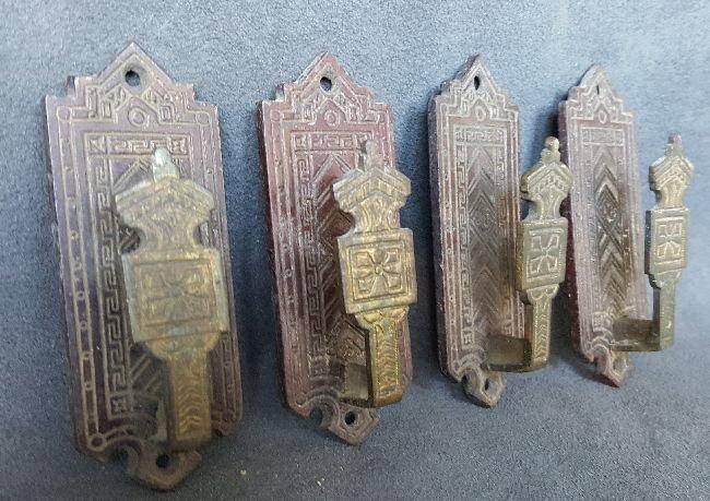 Four Bronze Picture Hangers - 2