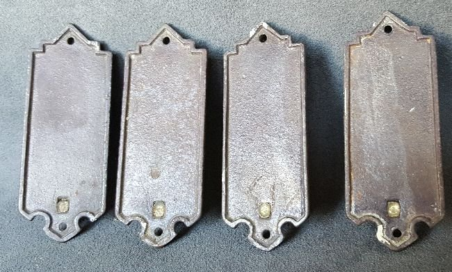 Four Bronze Picture Hangers - 3