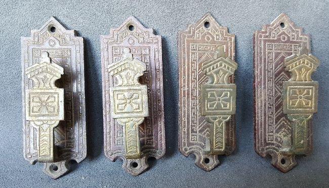 Four Bronze Picture Hangers - 5