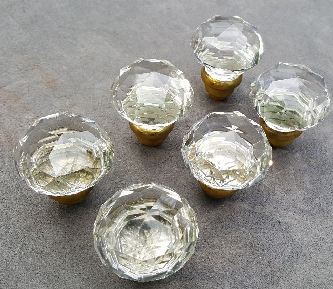 Quality Cut Glass Knobs - 5