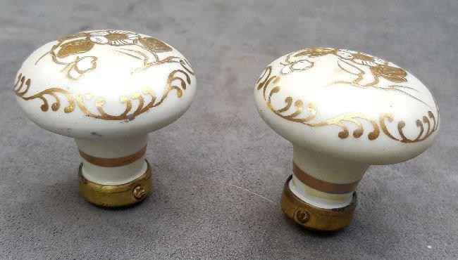 Two Decorated European Porcelain Knobs - 2