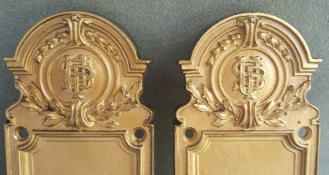 Pair of Bronze Finger Plates - 2