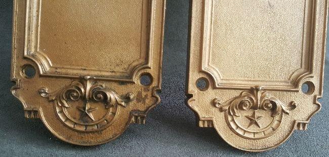 Pair of Bronze Finger Plates - 3