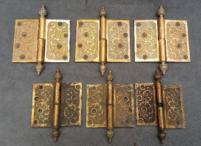 Lot of Bronze Pintel Hinges