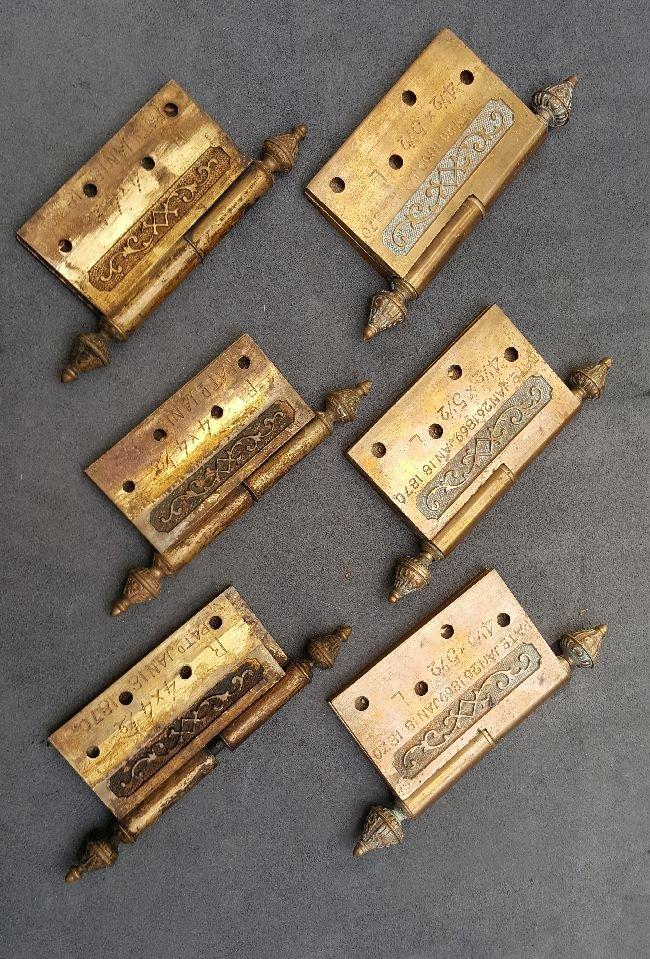 Lot of Bronze Pintel Hinges - 2
