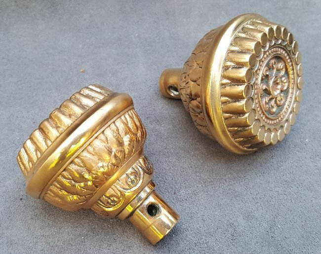 Two Corinthian Patter Door Knobs