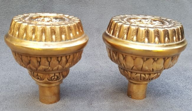Two Corinthian Patter Door Knobs - 2