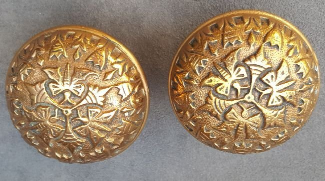 Two Butterfly Passage Knobs