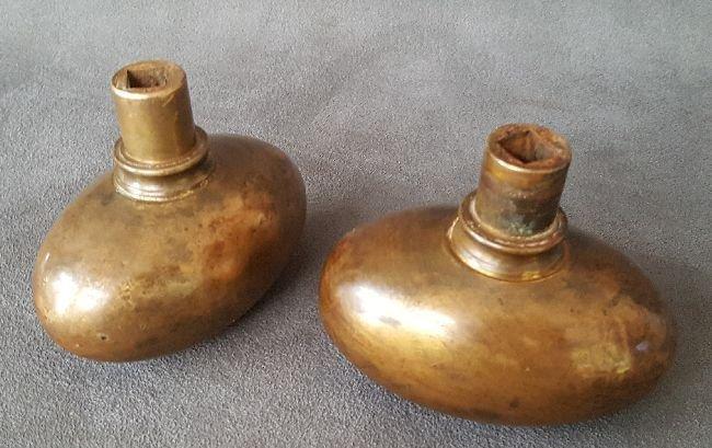 Pair of Jumbo Bronze Oval Knob - 2