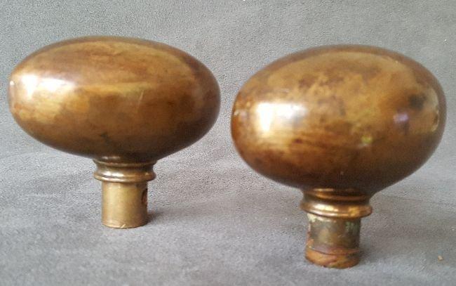 Pair of Jumbo Bronze Oval Knob - 3