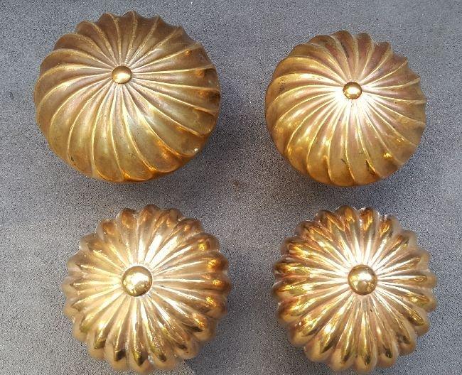 Four Melon Form Doorknobs