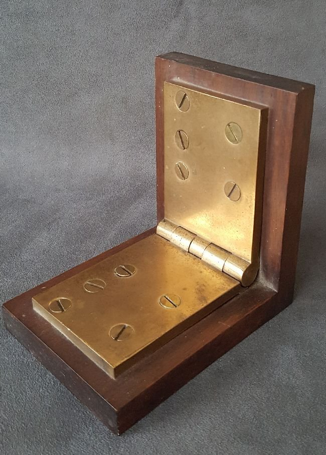 Book End Made From A Bronze Hinge