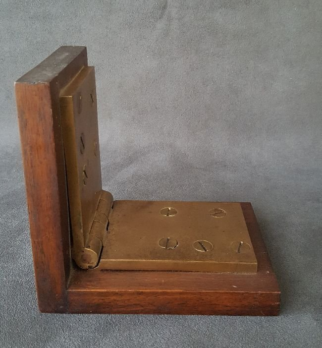 Book End Made From A Bronze Hinge - 3