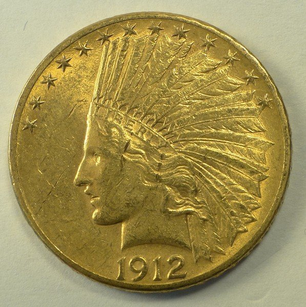 1912 S $10.00 Indian Gold.
