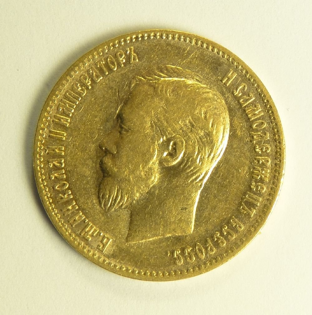 Russia 1902 10 Roubles Gold.
