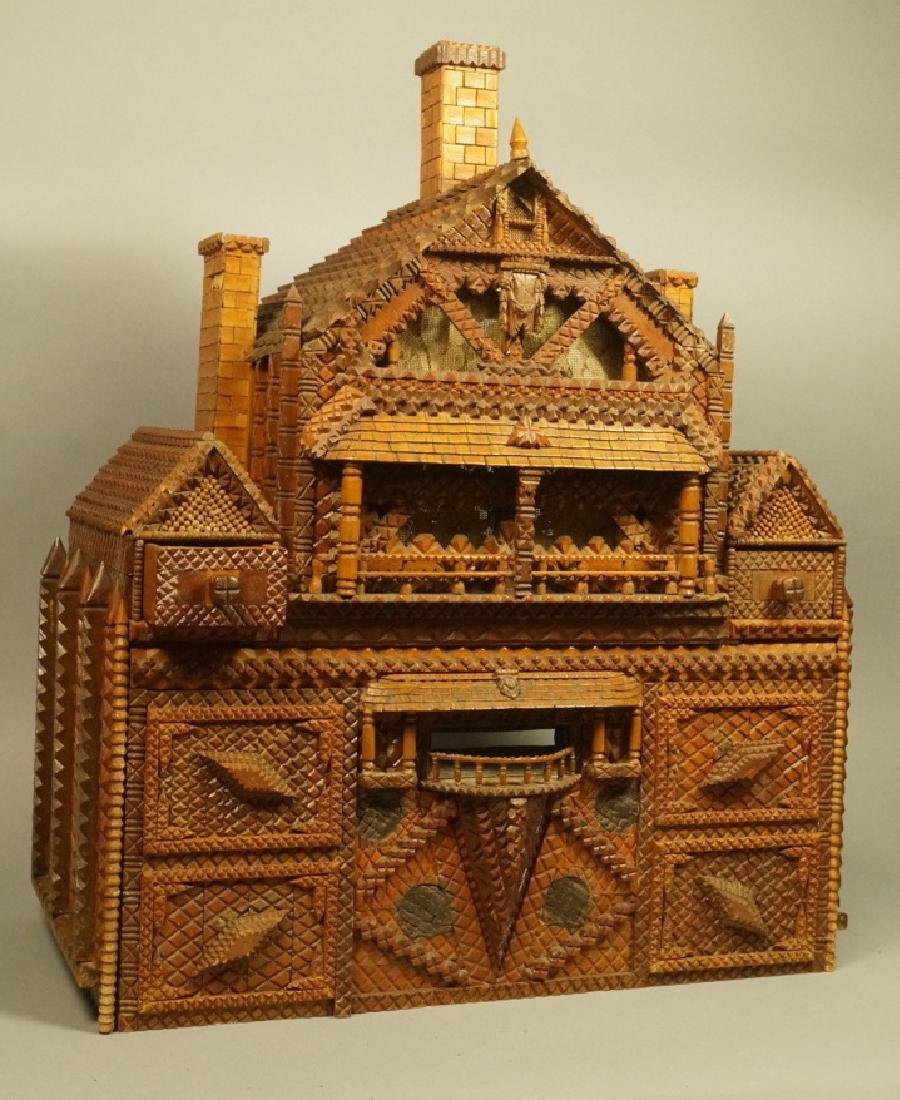 Doll House TRAMP ART. Gingerbread elaborate detai