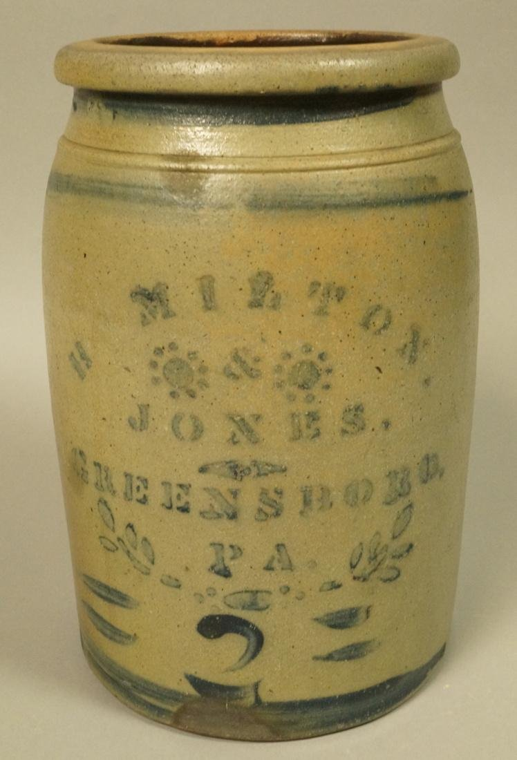 HAMILTON & JONES, Greensboro PA Pottery Crock. An