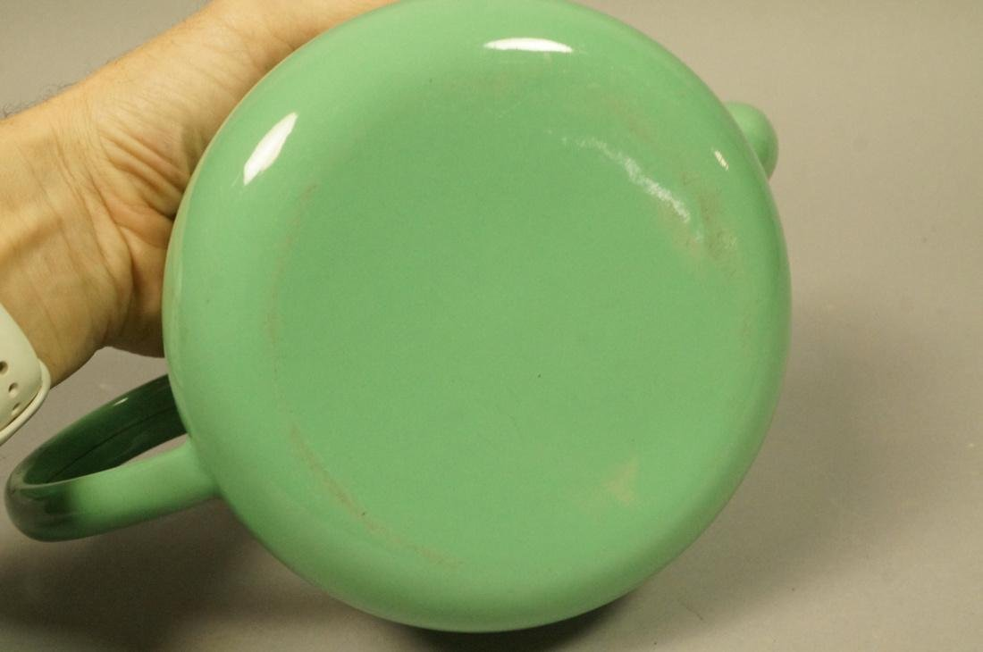 Vintage Green Enamel Ware Percolator Tea Pot. 5 p - 5
