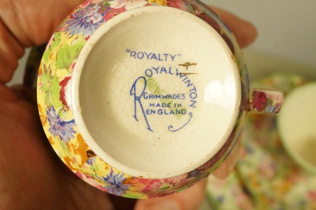 "12pc Chintz Mixed Lot. 4pcs Royal Winton ""Royalty - 8"