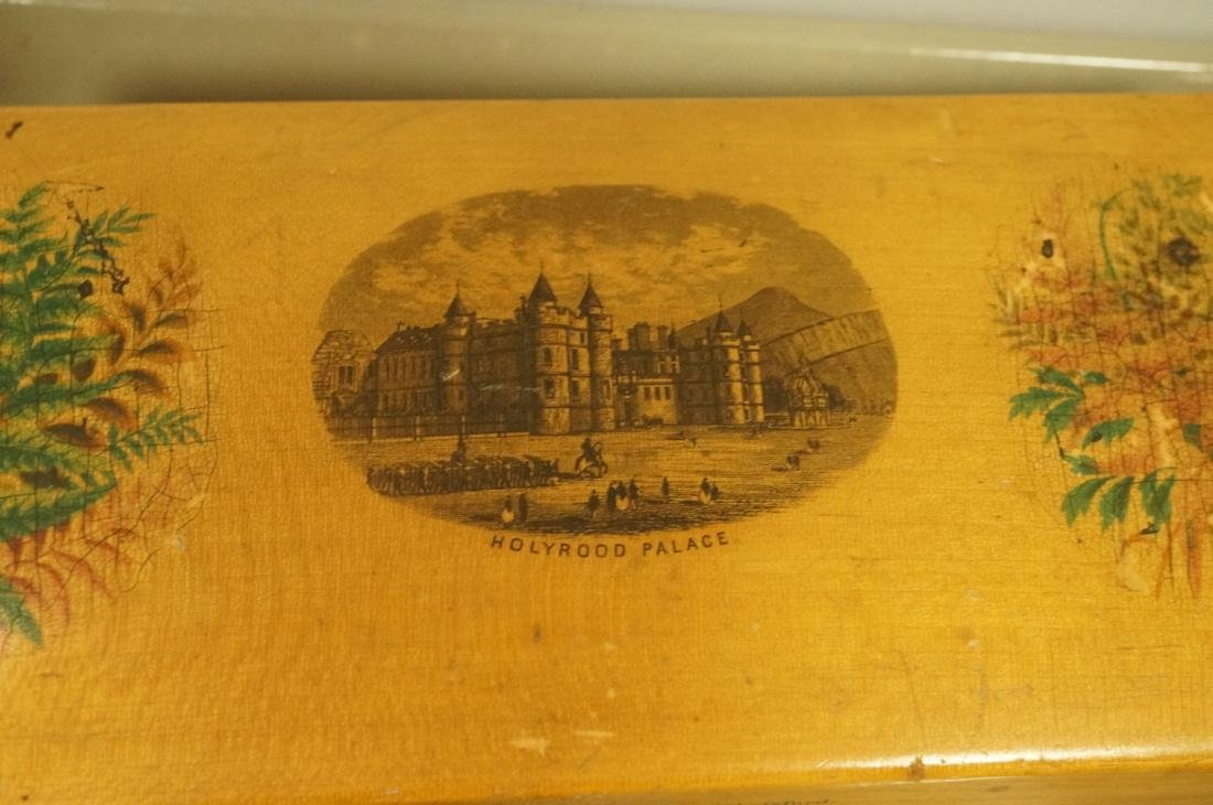 8pc Mauchlin Ware Boxes. One bank with clock face - 2