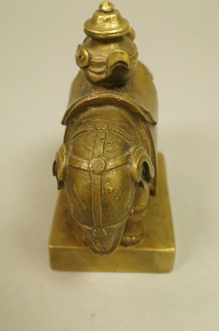 Brass Figural Sculpture. Elephant with urn mounte - 4