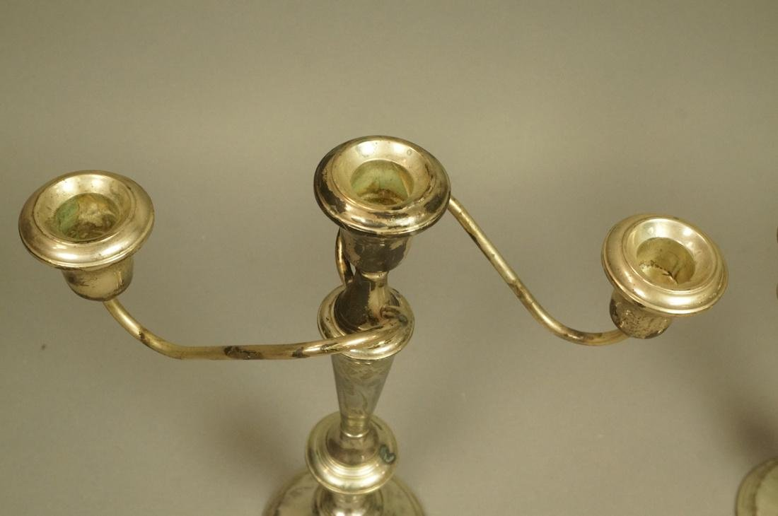Pr Sterling Tall Candelabra. Weighted. Tall stick - 2