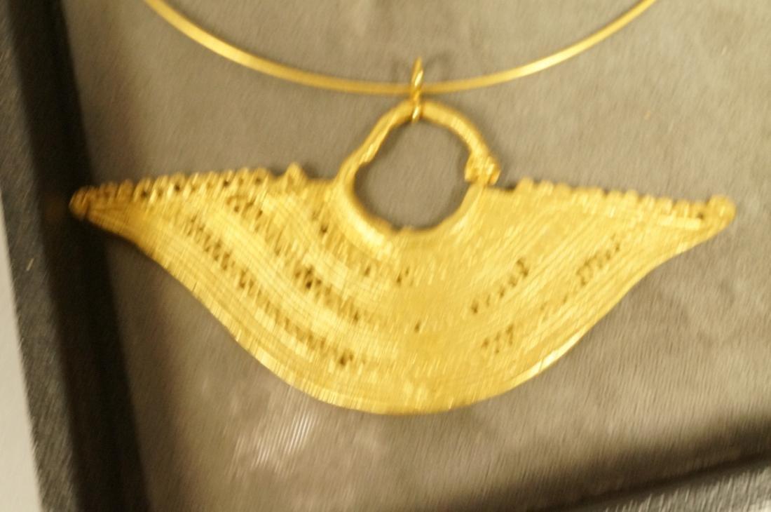 6PCS Colombian Jewelry.  Gold tone pre-Columbian - 3