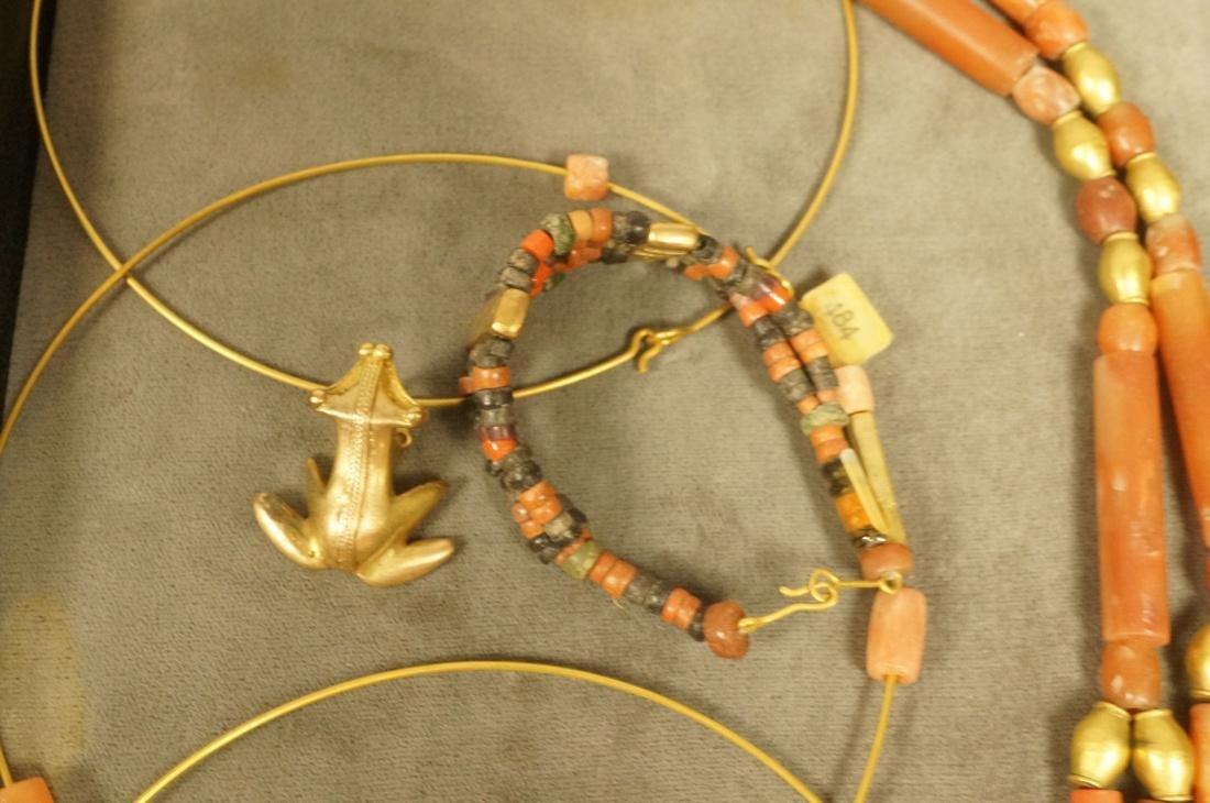 6PCS Colombian Jewelry.  Gold tone pre-Columbian - 5