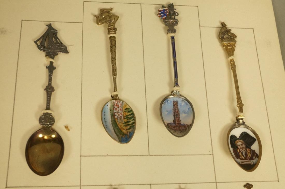 Collection 38 Silver  800 Sterling Souvenir Spoon - 7