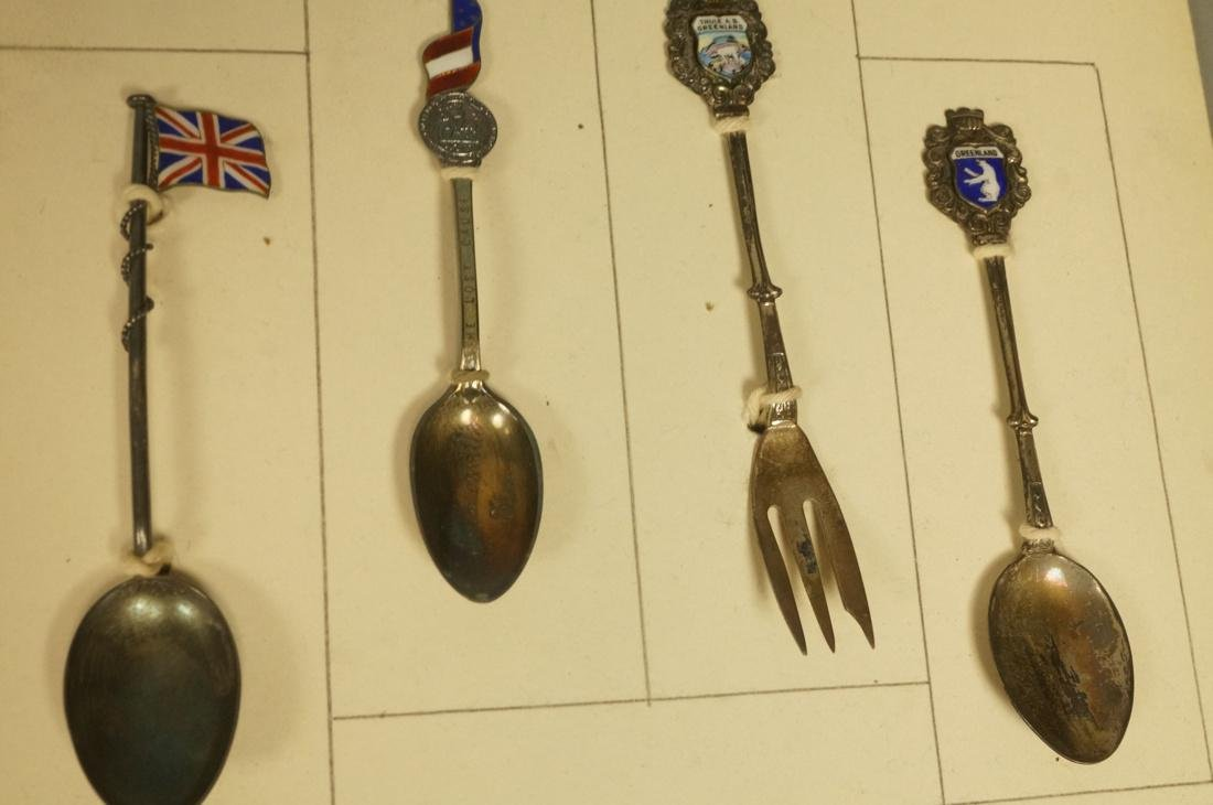 Collection 38 Silver  800 Sterling Souvenir Spoon - 8