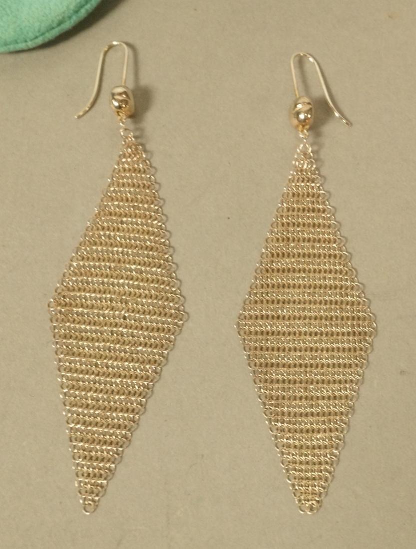 Pr TIFFANY & CO Sterling Silver Earrings. ELSA PE
