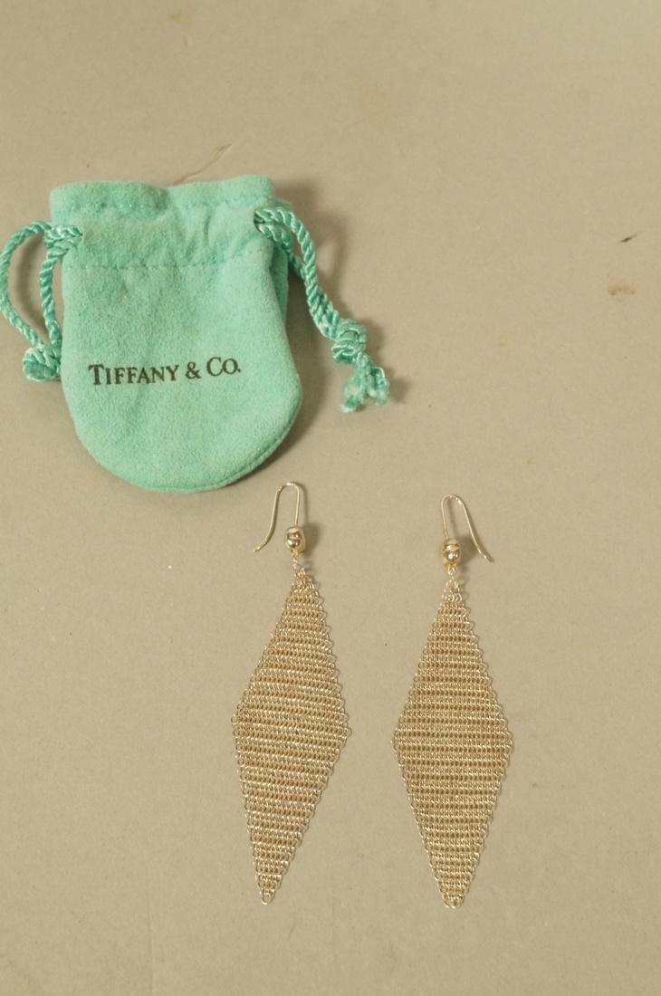 Pr TIFFANY & CO Sterling Silver Earrings. ELSA PE - 2