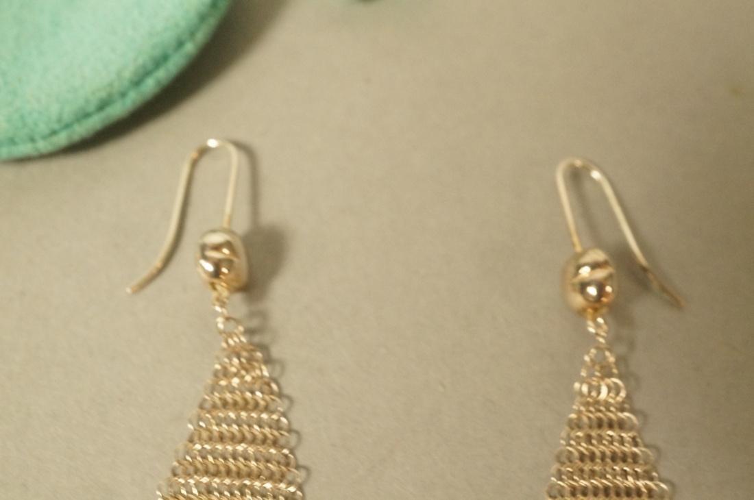 Pr TIFFANY & CO Sterling Silver Earrings. ELSA PE - 3