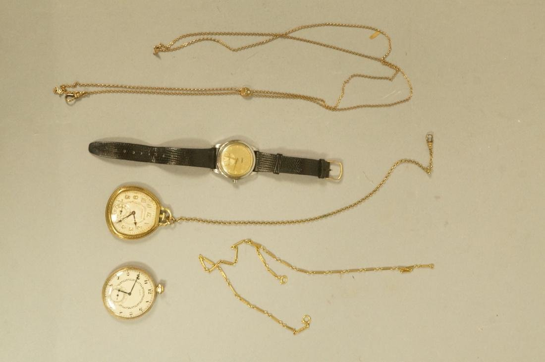 5pc Vintage Watch Lot. 1). OMEGA Mens Wrist Watch