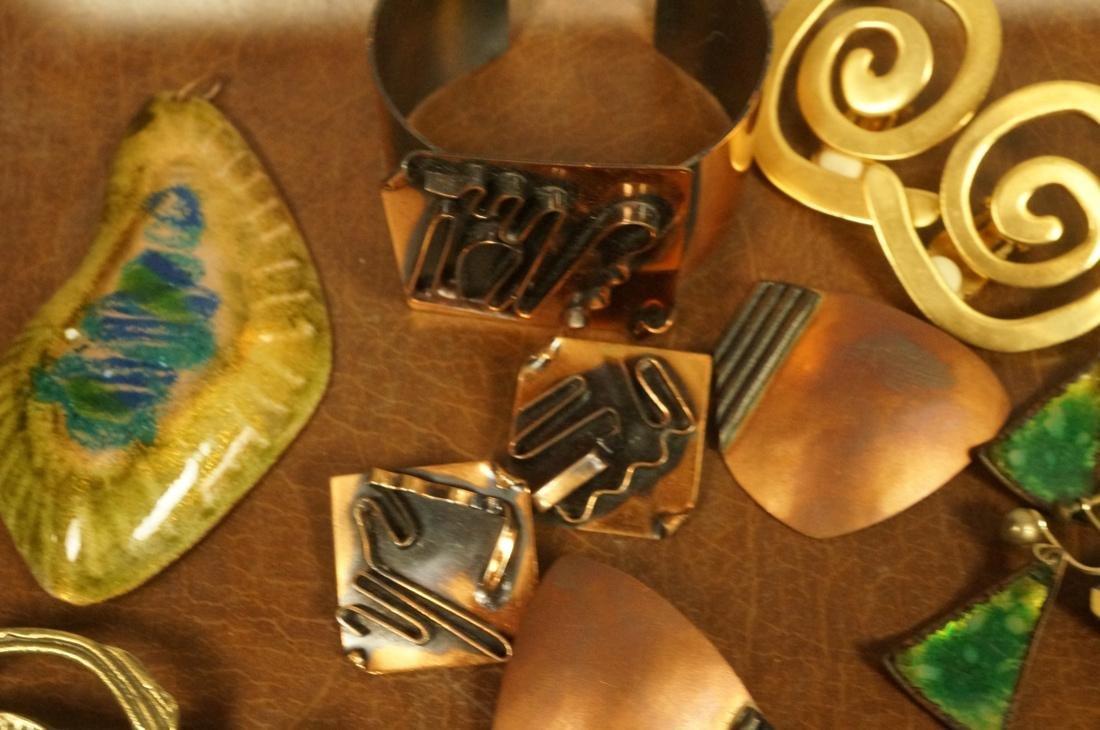 17pc Contemporary Artisan Jewelry. ROBERT LEE MOR - 4